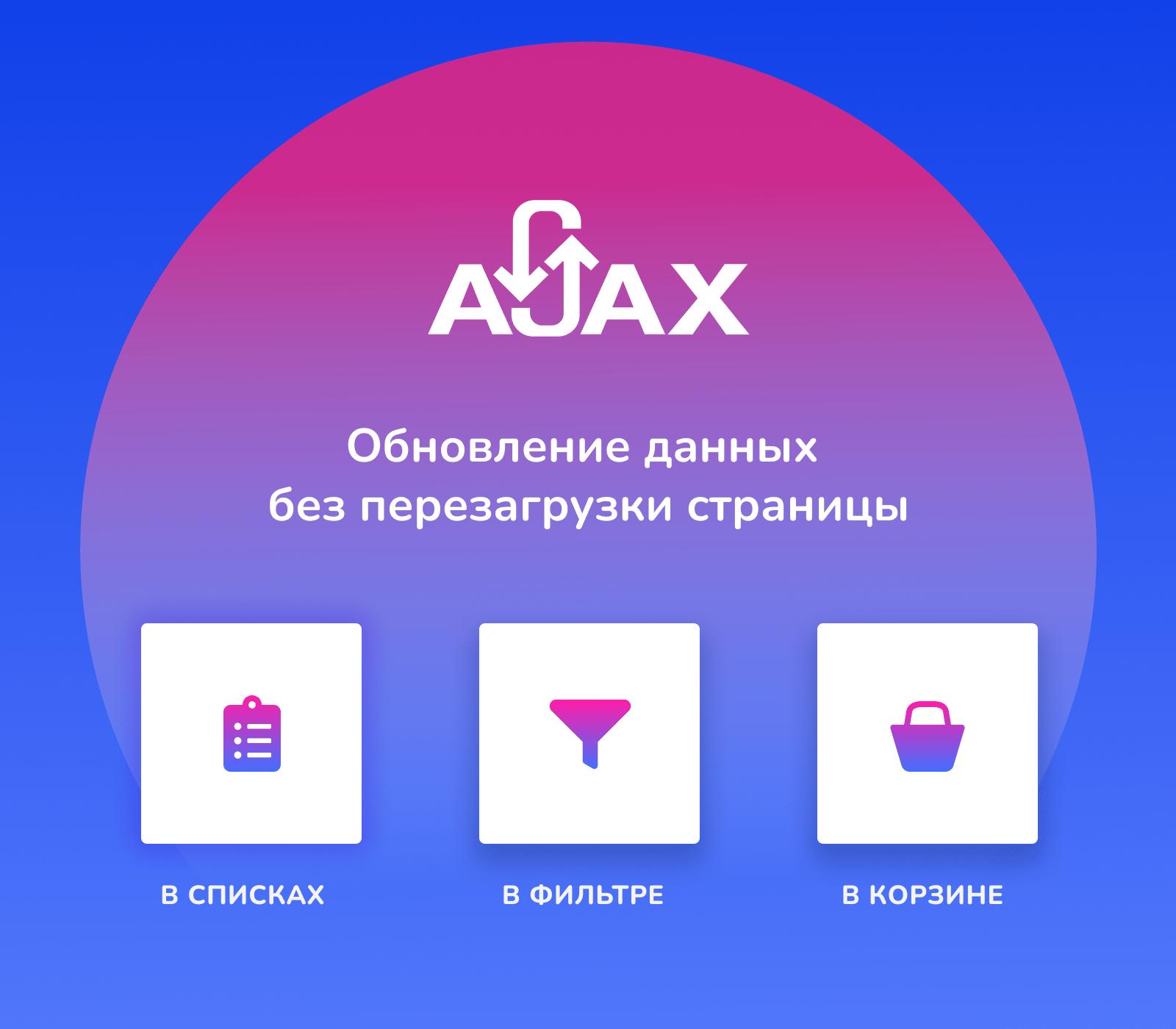 Ajax в списках, фильтре и корзине. Обновление данных без перезагрузки страницы